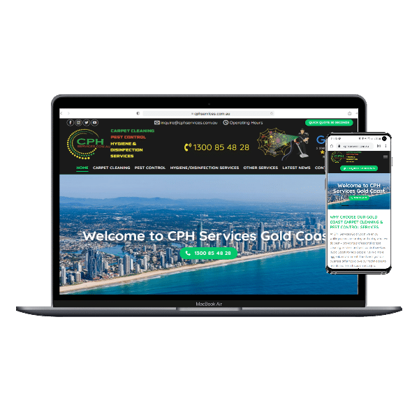 CPH Services Gold Coast by web designer Angie from inStyle Web Design